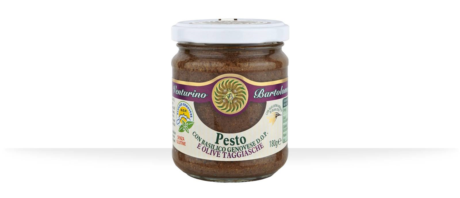 Pesto with basilico Genovese PDO and Taggiasca Olives